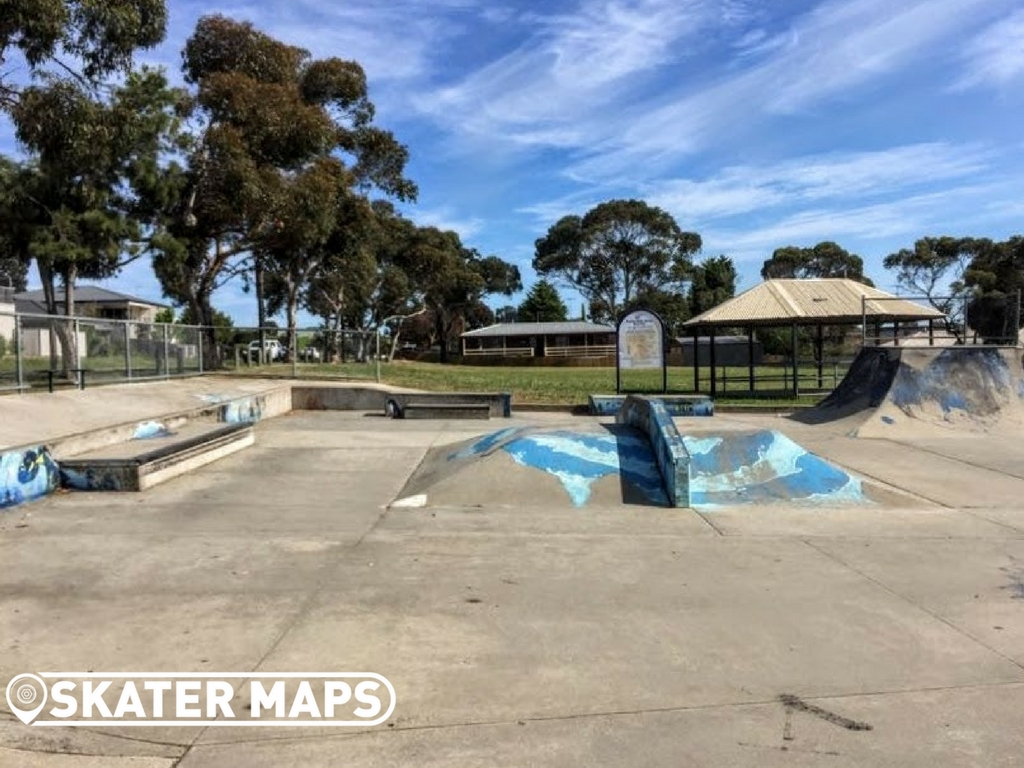 Stairs, Ramp & Down Box at Clifton Springs Skatepark Vic