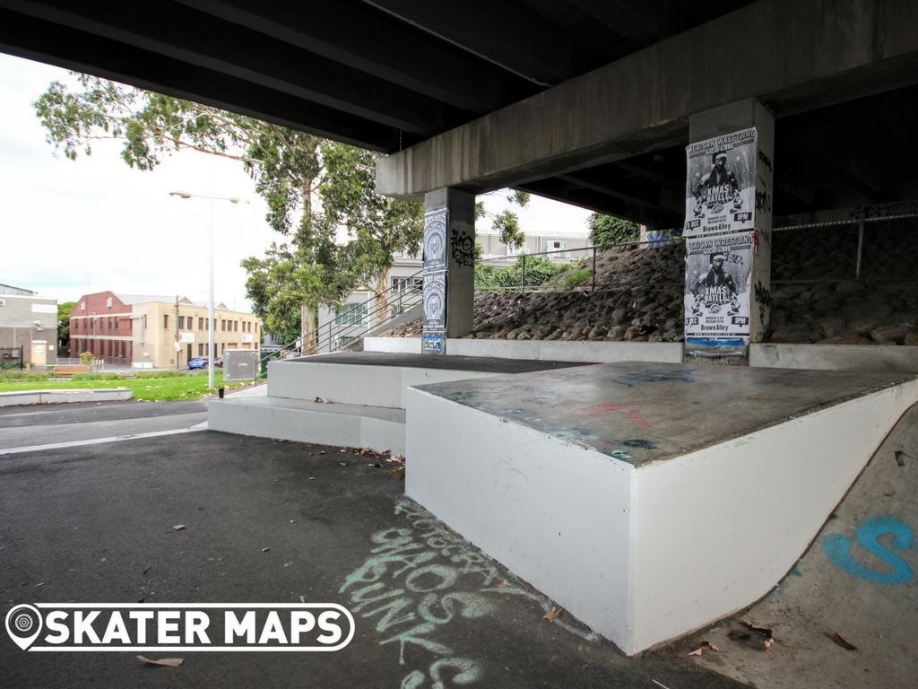 North Melbourne Skatepark, Northbank