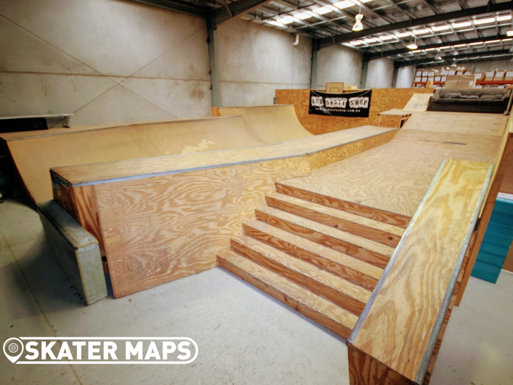 Indoor Skate Bowl OCD Skate Shop. Private Undercover skatepark