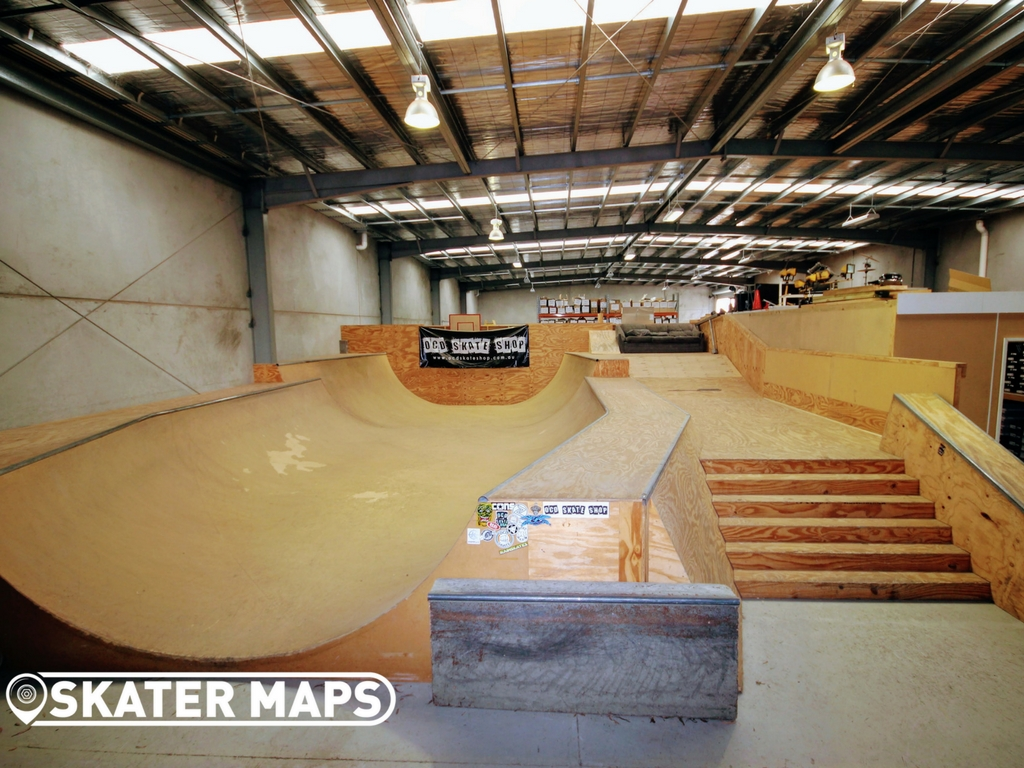 Indoor Skate Park OCD Skate Shop. Private Undercover skatepark
