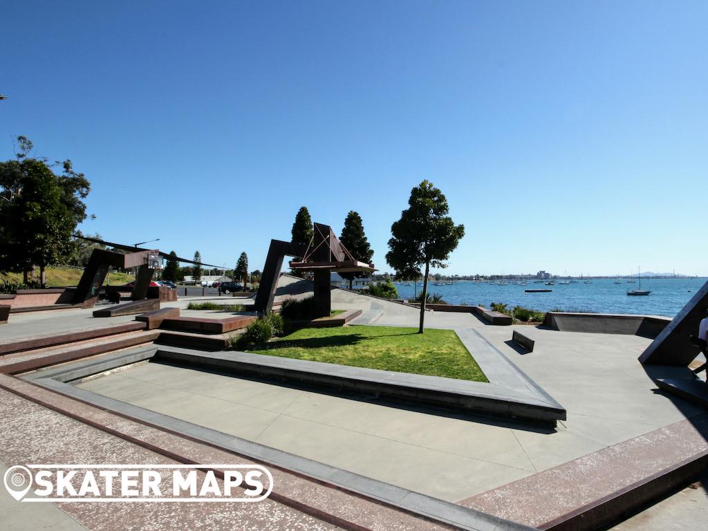 Geelong Waterfront Skatepark Skateboard Vic Australia Skate Parks