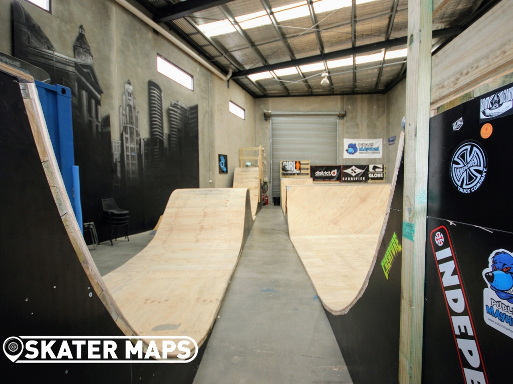 Public Meyham wood mini skate ramp