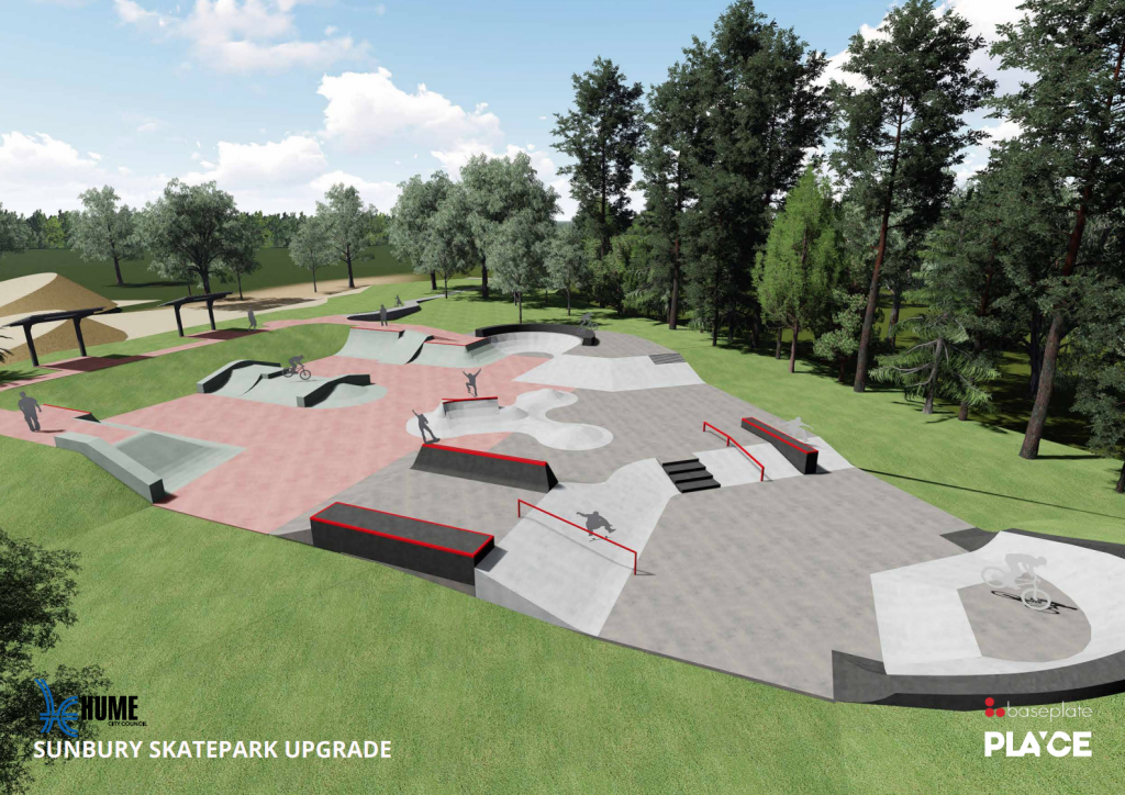Sunbury Skatepark Upgrade Designs
